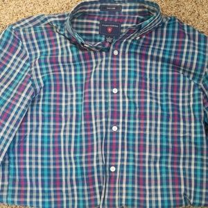 Mens button down long sleeve shirt.